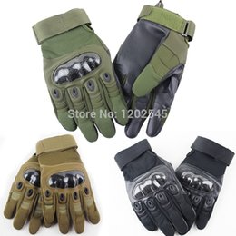 Gros-New Assault Paintball Airsoft Cyclisme Moto chasse armée militaire tactique de Course Tir Protect complet Finger Gloves à partir de fabricateur