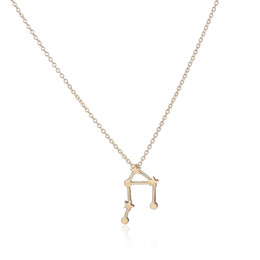 Wholesale 10pcs New Gold and Silver Libra Zodiac Sign Astrology Necklace Constellation Jewelry Astrology star Sign necklace XL155