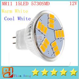 New MR11 9w GU4 600LM LED Bulb Lamp SMD5730 15leds White Warm White led spotlight Led Lighting Free Shipping Ultra Bright