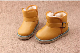 Girls > Boots Brand designer Baby Toddler Little Kids Snow Boots Boy Girl Leather Boots muscle Winter Children Shoes EU21 - 30