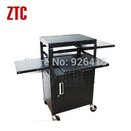 Wholesale 2015 Mobile computer desk with cabinet projector cart trolley video conferencing carts office trolley hot sale
