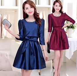 Elegant Plus Size Spring Women Silk Satin Bow A Line Dress Sexy Mini Prom Party Dresses Zipper One-piece Size M-XXL