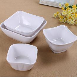 Wholesale Exquisite Dinner Bowls Cheap Dinnerware Dinner Bowls Beautiful Dessert Bowls Melamine Material Square Design For Sale