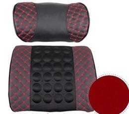 Multifonctionnel Coussin de massage électrique avec coussin Auto soutien lombaire coussin de dossier Support de taille à partir de oreillers de soutien lombaire fabricateur