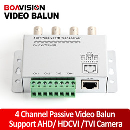2017 balun pasivo de vídeo de 4 canales UTP 4 canales Balun video pasivo de 4 canales CCTV BNC CAT5 Balun video Soporte AHD, HDCVI, la cámara HDTVI balun pasivo de vídeo de 4 canales baratos