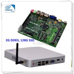 Wholesale-Mini PC Windows XP  7 Linux OS Computer With Intel Celeron 1037U 2G DDR3 128G SSD Supporting 3D Games Fanless 24 7 Days Working