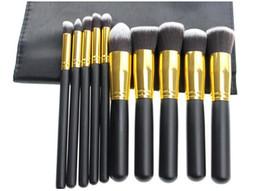 Makeup Brushes Make up Brushes 10pcs Professional Cosmetic Brush Kit Nylon Hair Wood Handle Eyeshadow Foundation Tools