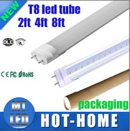 Wholesale 100 manufacturers sale UL CE ROHS Super Bright ft ft ft ft T8 LED fluorecent tube light G13 m PC SMD2835 Tubes Lamps AC V