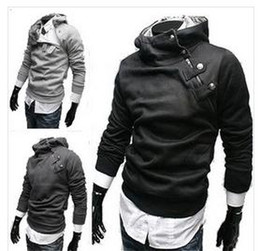 Wholesale New Hot High Collar Men s Jackets Men s Sweatshirt Dust Coat Hoodies Clothes cotton jacket