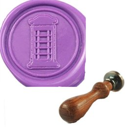 Wholesale Vintage Telephone Booth Custom Picure Logo Party Invitation Wax Seal Stamp Set