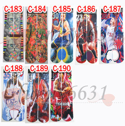 Wholesale women hip hop long barrel socks d sports star socks skateboard mens d printed gun emoji tiger skull socks Unisex styles FEDEX to USA