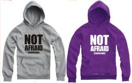 70---150cm kids hoodie not afraid eminem Printed Hoodie Sweatshirt Outerwear Casual hoodie Color: Gray