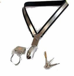 Male Y Stainless Steel summer Chastity Device Stainless Steel Chastity Belt +vibrator +Dong