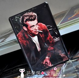 Wholesale Metal painting vintage ktv decorative painting elvis presley portrait pictures wall hanging bar poster