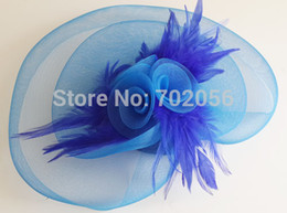 Handmade Bridal Accessories FEATHER HAIR MESH HAT FASCINATOR CLIP FLOWER WEDDING PARTY Fascinator #3604