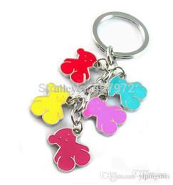 Wholesale-new 2015 women and men little bear key chains fashion key ring alloy love bear key chain
