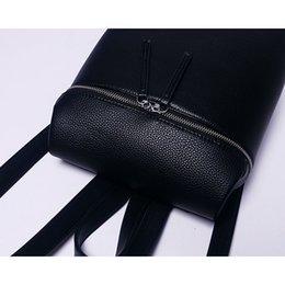 Wholesale women backpack leather backpacks black white school bag feminina small backpacks for women girl bookbags brand high quality