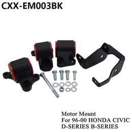 For 1996-2000 HONDA CIVIC D16 B16 B18 B20 Billet Aluminum SWAP MOUNTS EK D-SERIES B-SERIES CXX-EM003BK
