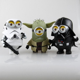 Minions Star Wars Figure Toys Despicable Me Cos Stormtrooper Yoda Darth Vader PVC Action Figuras Collectible Model Doll Toy 20cm