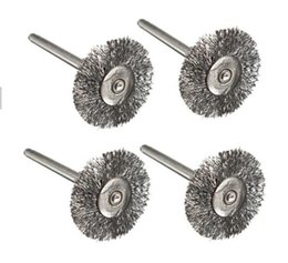 Wholesale Best Sale T Shape Mini Steel Wire Wheel Brushes mm Shank Clean for Dremel Rotary Tools Cleaning Practical Abrasive Tools