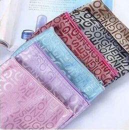 Wholesale 50pcs New Arrival Traveling Bag Cosmetic Case Practical Women Cosmetics Bags Wash Travel Handbag Makeup