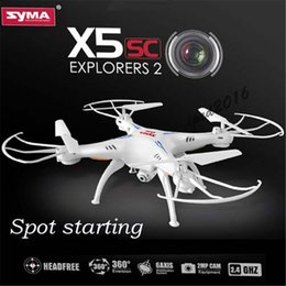 2016 syma Lastest Drone Syma X5SC 4CH 6-Axis Quadcopter with 2MP Camera RC Helicopter with retail box free DHL shiping