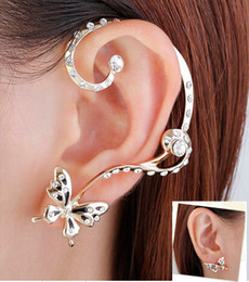 Wholesale Retail k Butterfly Ear Cuff earrings New Fashion Punk Personality High Quality set ear clips Earring YS C C4