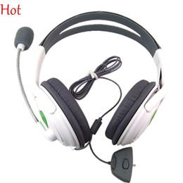 Casque stéréo xbox en Ligne-Gaming Headset Casque stéréo Blanc Ecouteur Electronics Noise Isoler Gaming casque avec microphone pour XBOX 360 PC Computer 1110