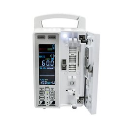 Wholesale Quality Guaranteed CE FDA LCD Medical KVO Infusion Pump Peristaltic finger Applicable IV Set IP To US