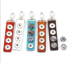 Wholesale NOOSA Genuine leather snap button Keychain jewelry hot noosa Snap Key Chain Fit Snap Button quot x1 quot in colors factory price