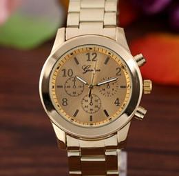 Men Watch Fashion Geneva Stainless Steel Numerals Quartz Analog WristWatches Sport Women Geneva Unisex Quartz Watches