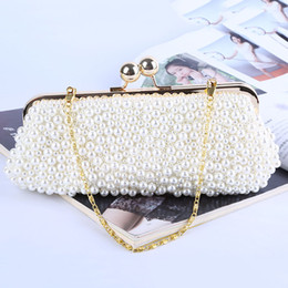 Wholesale Factory brand new wellmade attractive beaded evening clutch purse with satin for wedding banquet party porm