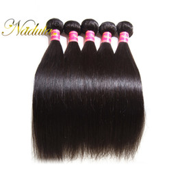 Nadula Malaysian Straight Hair Weaves 100% Human Natural Hair Bundles 8-30inch 100g PCS Virgin Hair Extensions Double Weft Free Shipping