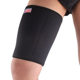 Wholesale Breathable Stretch Thigh Brace Leg Bandage Compression Sleeve Support Protector Sports Wrap Thigh Protection SX650