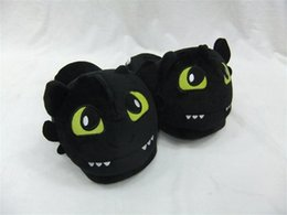 Free Shipping How to train your dragon toothless Plush Shoes Winter Indoor Warm Slippers Two styles For Adult Open Mouth & Close Mouth