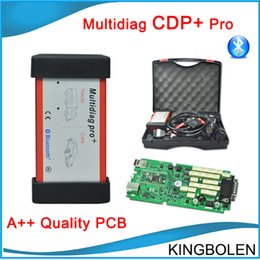 Wholesale 2015 Professional TCS CDP Bluetooth with delphi software cars trucks Diagnostic tool CDP Plus pro add full set car cables DHL Free