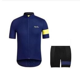 Rapha Cycling Jerseys Sets Cool Bike Suit Bike Jersey Anti Bacteria Cycling Short Sleeves Shirt Bib Shorts Mens Cycling Clothing