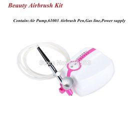 Wholesale Set Temporary Airbrush Tattoo Kit With Airbrush Pen Gun Compressor and Gas Line For Body Paint Tattoo Supplies