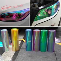 Changement de couleur des phares en Ligne-Lumières de jauge d'ar 10m / rouleau x30cm Chameleon Brillant Auto Car Styling Phares Feux arrière Lumières translucides de film Tourné Changer Couleur Sti ...