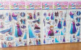 Wholesale Frozen Queen Elsa Princess Frozen Cartoon Anna Elsa Kids Stickers Book Stickers Scrapbook Stickers Awards Children s Products Gifts