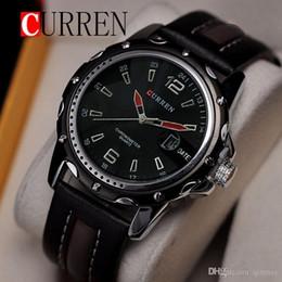 Waterproof CURREN 8104 Men Fashion Sports Quartz Watches Leather Strap Men Watch Military Wristwatches Relogio Masculino