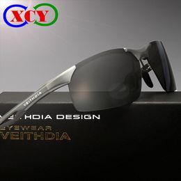 2016 Original Box Brand Polarized Sunglasses Sports Driving Pilot Outdoor Fishing Glasses Eyewear Aluminum Magnesium Frame 6591