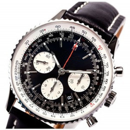 Wholesale Hot sale famous brand watches Mechanical automatic watch mens classic wristwatch black dial leather strap