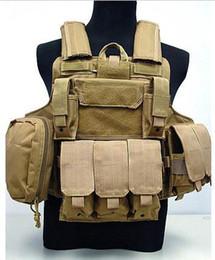 Wholesale MOLLE Plate Carrier Ciras Mar Tactical Vest protective vest CS Tactical Vest Top quality Nylon D Combat Strike Plate Carrier Mag Pouch
