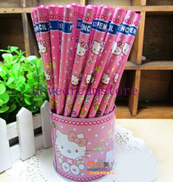 144 Pcs lot Hello Kitty pencils Cartoon pencils Lovely pencil Gift Free shipping