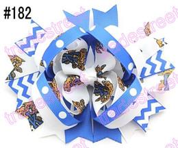 50pcs 5.5'' ring hair bows layered hair bows college team ribbon NCAA girl big bows alabama hair bows-C