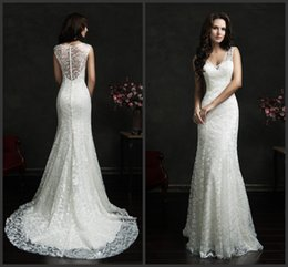 Wholesale Venice Lace Wedding Dresses Anita Ivory V Neck Capped Sleeves Princess KR Bridal Gowns Covered Button Sweep Train Amelia Sposa Vinatge