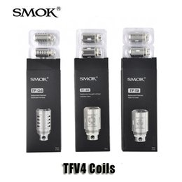 Wholesale Authentic Smok TF Q4 TF T3 TF S6 TF T4 TF T8 TF Ti TC Coils Head TF STC2 TF CLP2 TF N2 Standard Air Core For TFV4 Mini Tanks