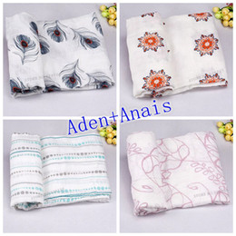 Wholesale Aden Anais Baby Blanket Organic Cotton Muslin Blankets Multifunctional kids Swaddle wrap blanket some with label