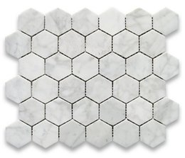 Wholesale Bianco carrarra white marble tile hexagon mosaic tile Italy carrarra white marble tiles long last beauty fashion